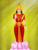 Illustration of Hindu goddess Laxmi. EPS 10.