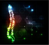 picture of osteoporosis  - Human spine abstract background - JPG