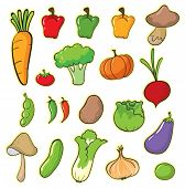 pic of brinjal  - illustration of vegetables on a white background - JPG
