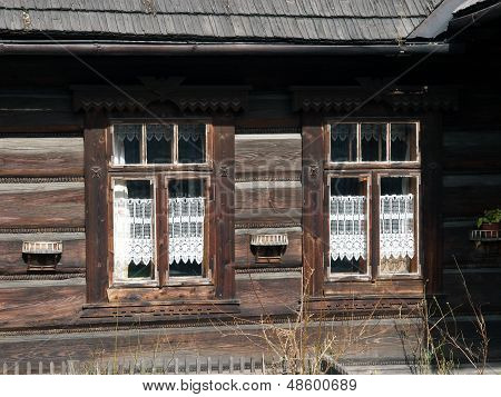 Traditional polish wooden hut from Zakopane. Poland