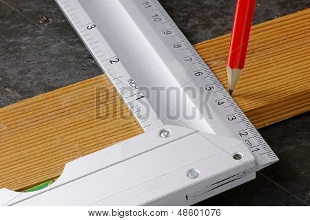 Set Square And Wood