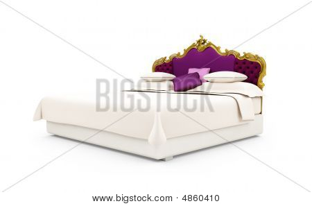 Classic Bed Isolated View
