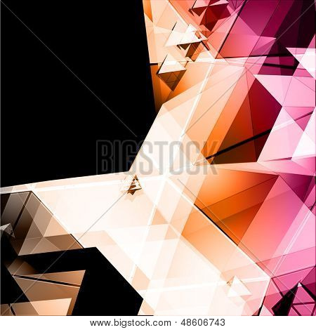 Polygons vector background