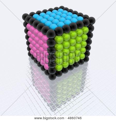 Cubo de esferas