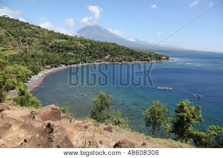 Bay in the village of Amed, Bali