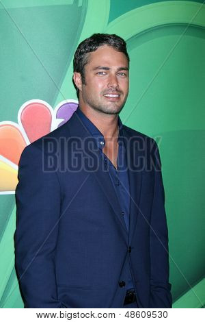 LOS ANGELES - JUL 27:  Taylor Kinney at the NBC TCA Summer Press Tour 2013 at the Beverly Hilton Hotel on July 27, 2013 in Beverly Hills, CA