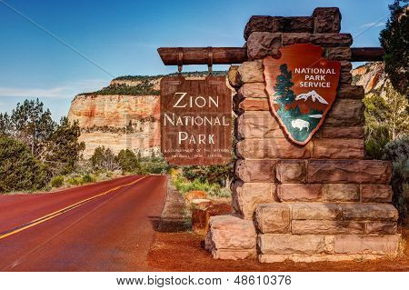 Zion National Park Sign