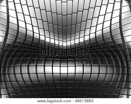 Abstract metallic silver background 3d illustration