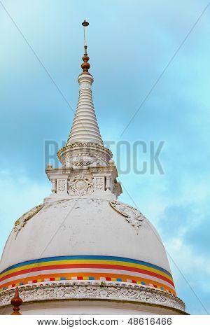 Stupa (dagoba) - Kande Viharaya Temple. Bentota, Sri Lanka