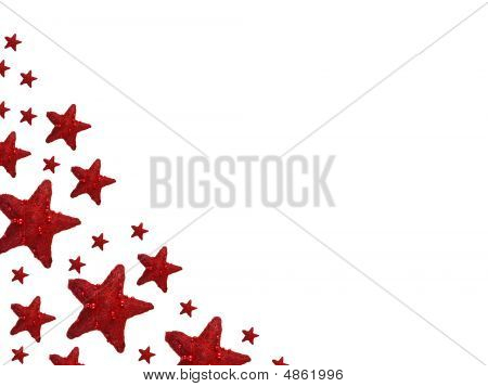 Red Christmas Stars Backgroung