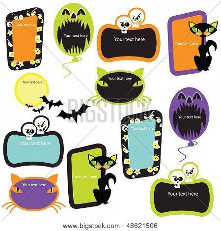 Halloween banners frames