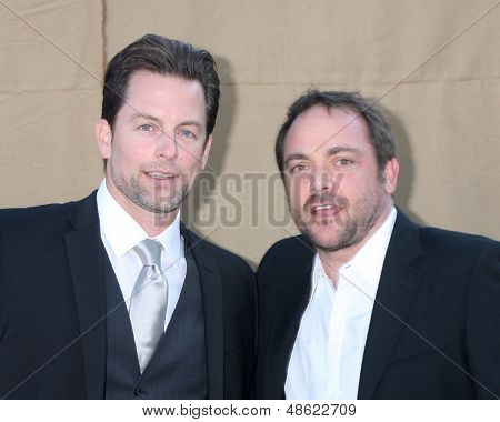 LOS ANGELES - JUL 29:  Michael Muhney, Mark Sheppard of