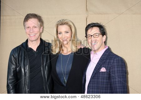 LOS ANGELES - JUL 29:  Dan Roos, Lisa Kudrow, Dan Bucatinsky arrives at the 2013 CBS TCA Summer Party at the private location on July 29, 2013 in Beverly Hills, CA