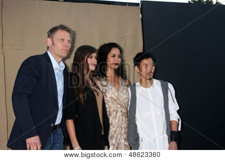LOS ANGELES - JUL 29:  Mark Pellegrino, Peyton List, Madeleine Mantock, Aaron Yoo arrives at the 2013 CBS TCA Summer Party at the private location on July 29, 2013 in Beverly Hills, CA