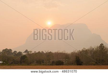 Sunset At Doi Luang Chiang Dao. Chiang Mai, Thailand