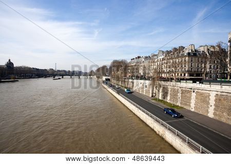 View from the Pont Neuf and the Latin Quarter, Paris.