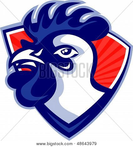 Cockerel Rooster Head Shield