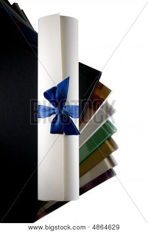 Certificate Scroll And Books