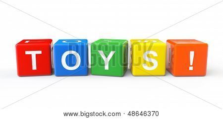 Toy Blocks With Toys Sign