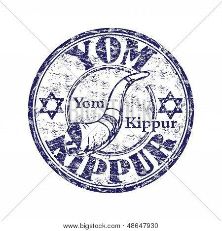 Yom Kippur grunge rubber stamp