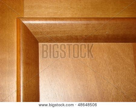 corner of a wooden door