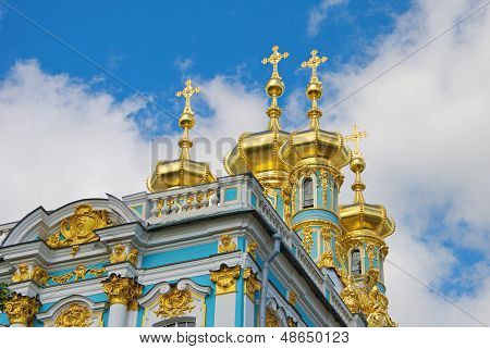 Detail of the chapel of the Catherine Palace