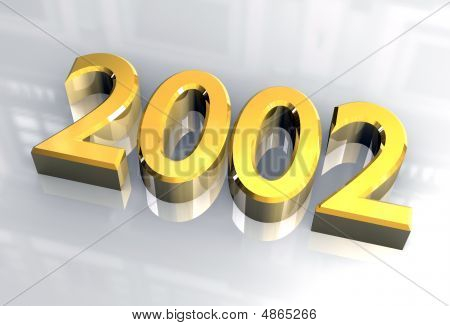 Year 2002 In Gold 3D