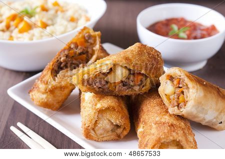 Meat And Vegetables Rolls