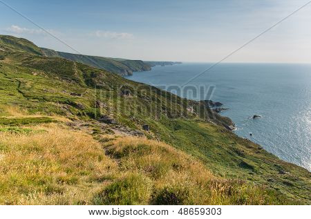 North Cornwall coast at Strangles near Crackington Haven between Bude and Tintagel