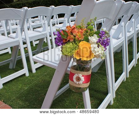 Wedding Chairs and Flowers