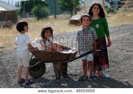 Kurdish children playing