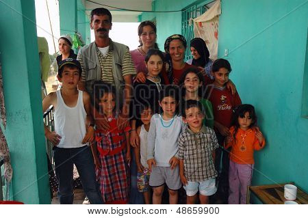 Kurdish family group photo in Turkey