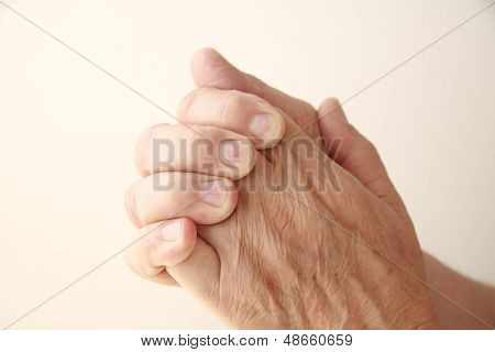 man has a sore hand