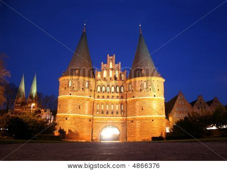 Holstentor In Lübeck, Germany