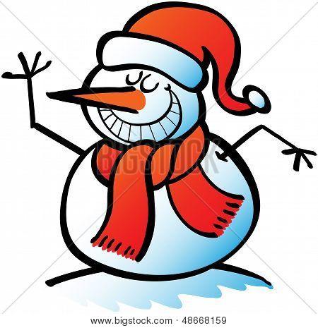 Cool Christmas snowman zwaaien