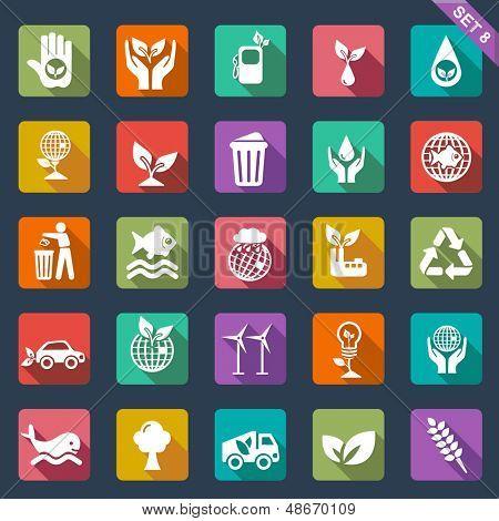Ecology icon set-  flat design
