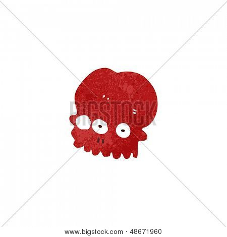 retro cartoon weird spooky skull
