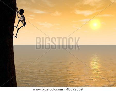 Skeleton climber silhouette