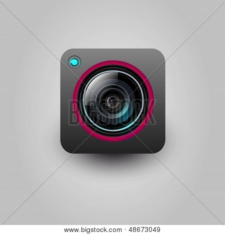 User interface camera lens icon