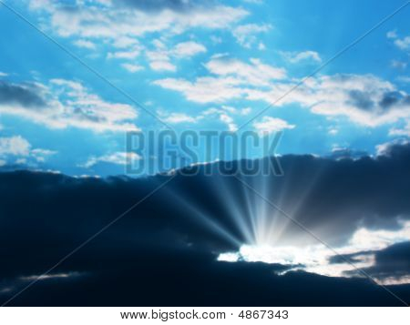 Sunbeam Through The Clouds