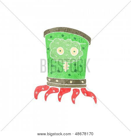 retro cartoon weird alien