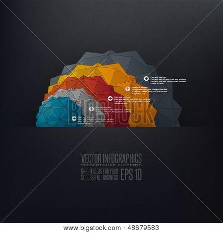 Chart infographics illustration