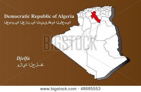 Algeria - Djelfa Highlighted