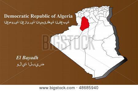 Algeria - El Bayadh Highlighted