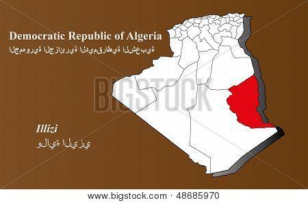 Algeria - Illizi Highlighted