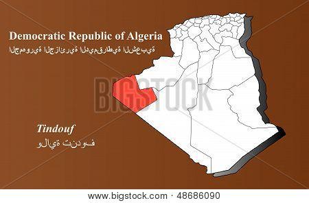 Algeria - Tindouf Highlighted