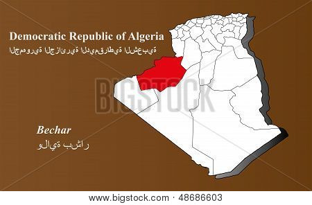 Algeria - Bechar Highlighted