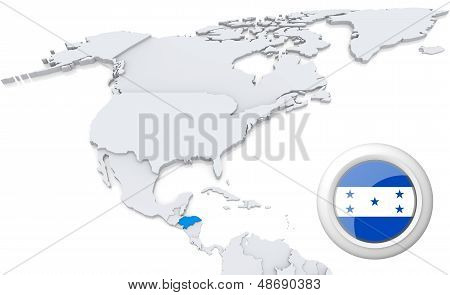 Honduras On A Map Of North America