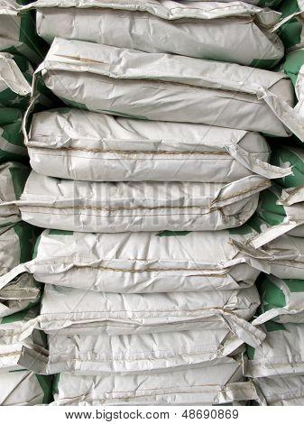 Pile Of White Paper Sacks