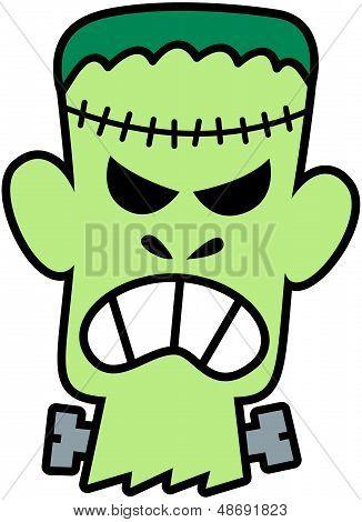 Angry Halloween Frankenstein